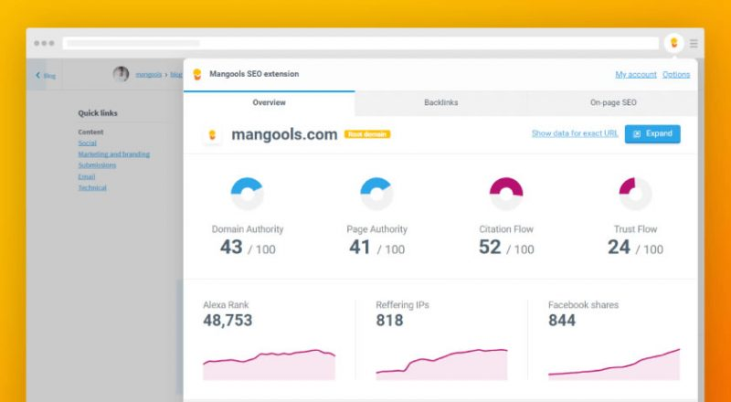 mangools-seo-extension