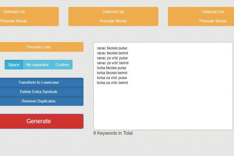 keyword-toaster-lista
